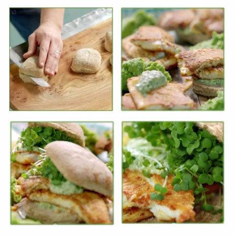 Как подать булочки с рыбой, соусом и пюре