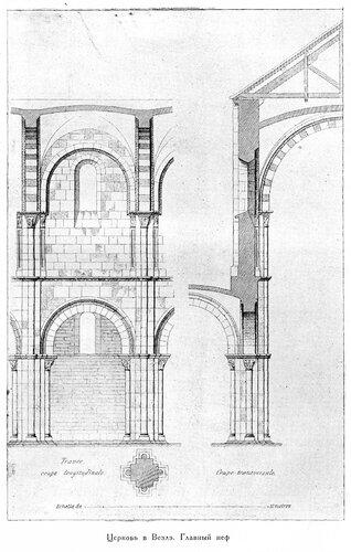 Церковь св. Магдалины в Везле, членение фасада