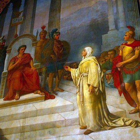 Святая Равноапостольная Мария Магдалина у  императора Тиберия