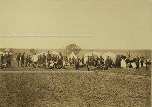 Офицеры и солдаты Лейб-гвардии 1-го Стрелкового его величества батальона.