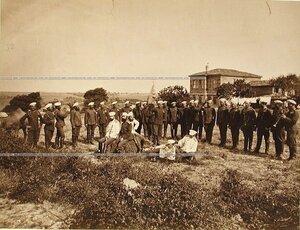 Группа офицеров и солдат 2-го эскадрона Лейб-гвардии Уланского полка.