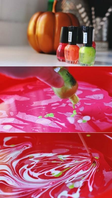Марморирование тыквы