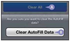 Когда мне стоит удалять информацию в функции «Автозаполнение»