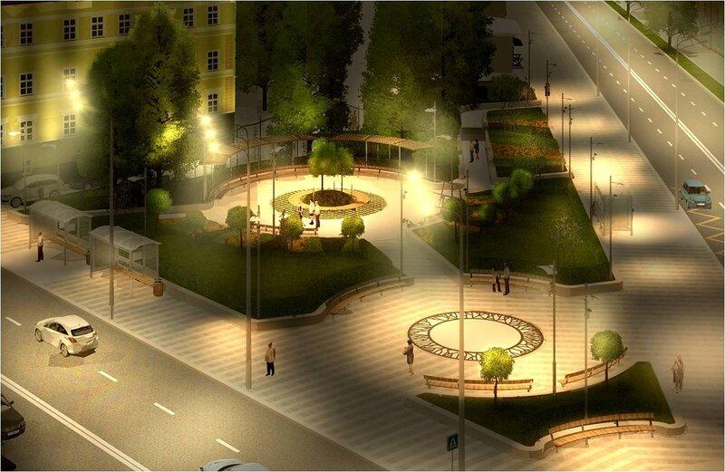 Проект реконструкции сквера на площади Разгуляй. Рисунок 15