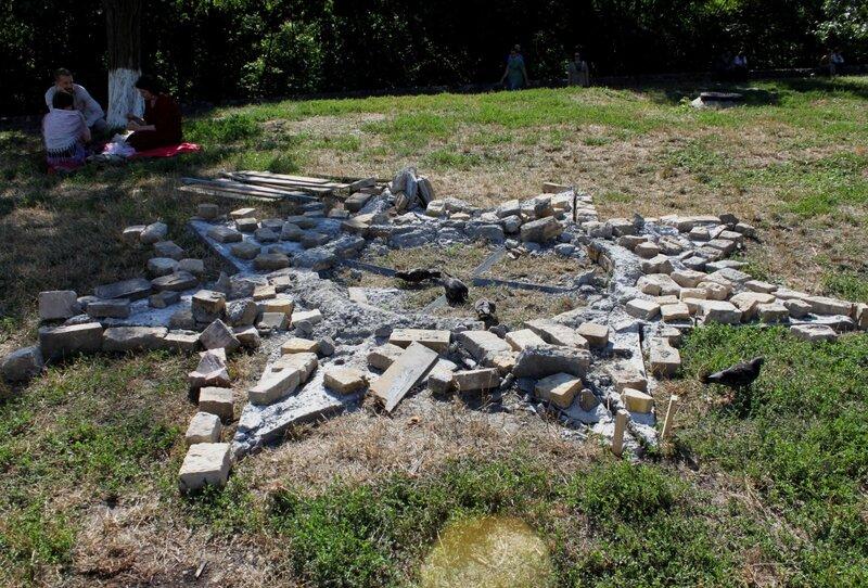 Место разрушения идола Перуна на Старокиевской горе