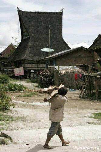 Деревня батаков рядом с Берастаги