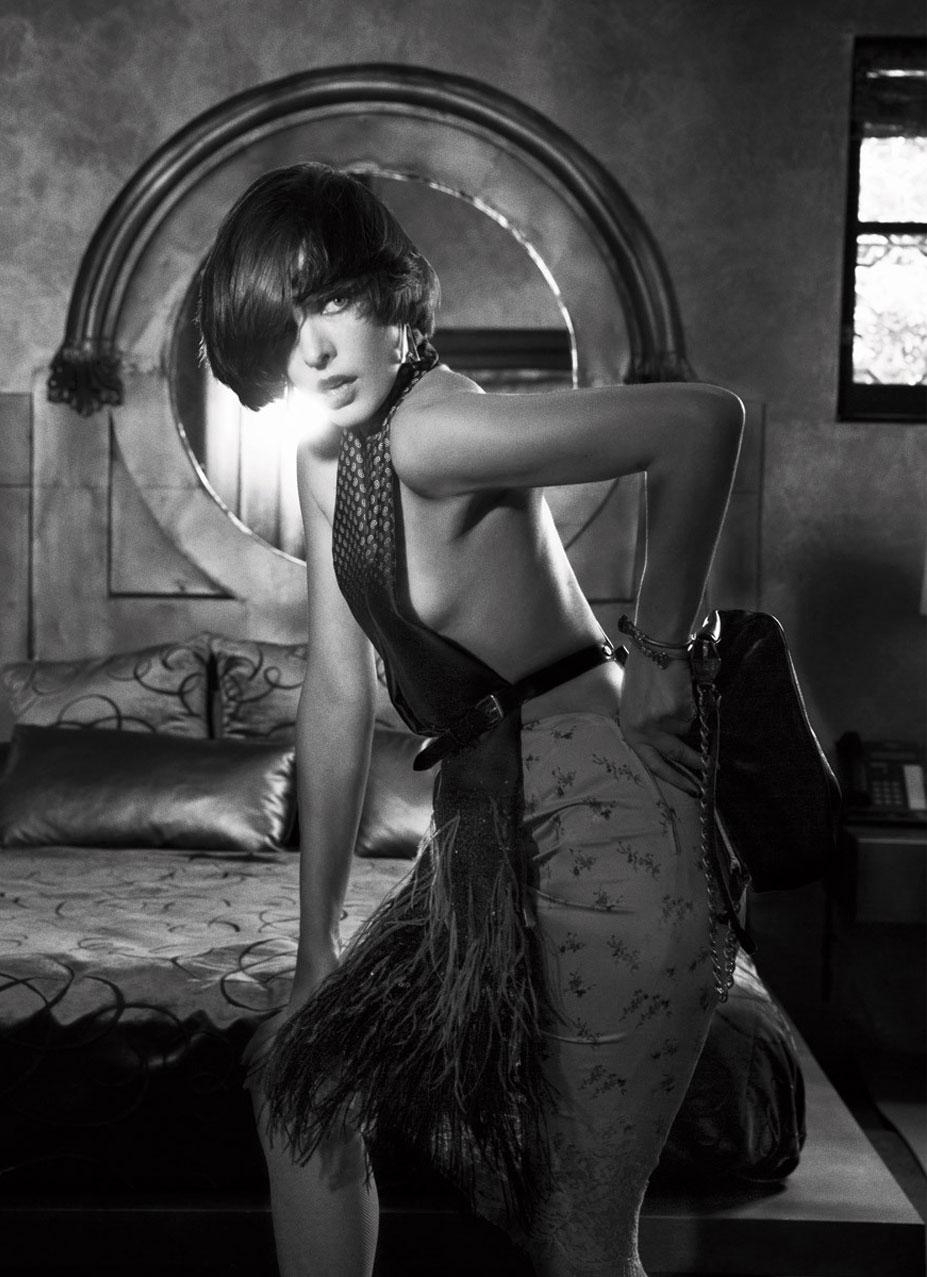 Модная и страстная Милла Йовович / Milla Jovovich by Katie Bleacher & Dean Everard in Harper's Bazaar Russia december 2013