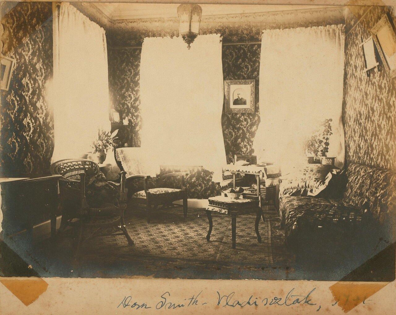 Верхняя гостиная с видом на восток и на юг в сторону бухты Золотой Рог. 1901