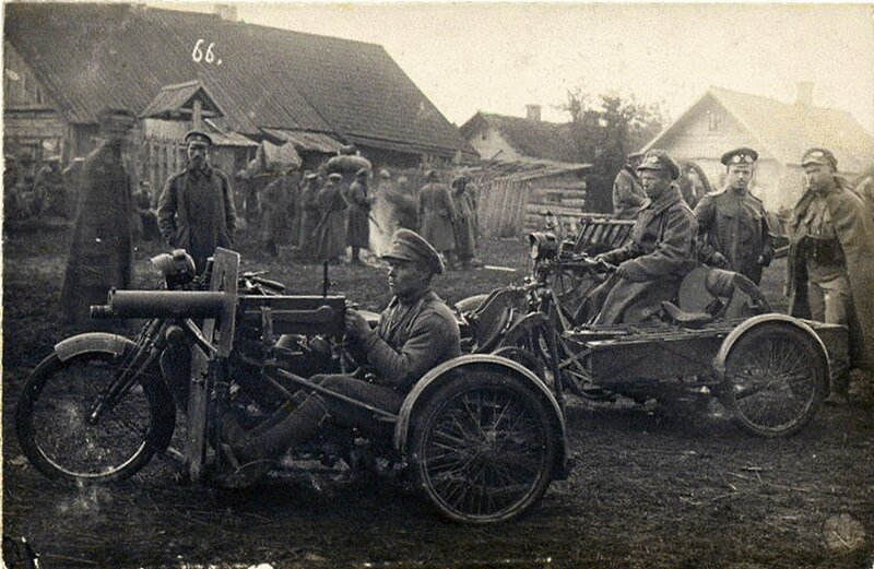 Motorcycles of the 39th Infantry Regiment of Tomsk. 1914-1916