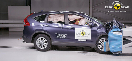 Легкие 5 звезд кроссовера Honda CR-V за краш-тест