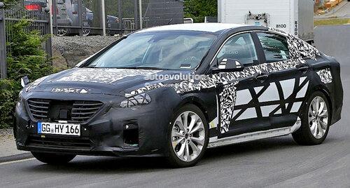 Новая Hyundai Sonata была замечена на тестах