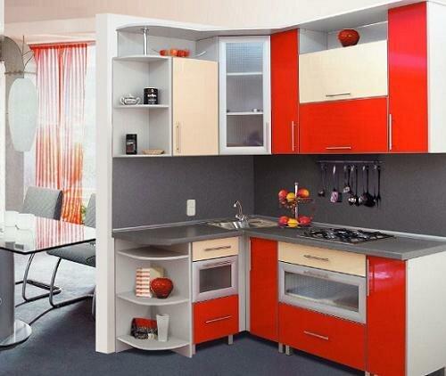 Экономия места с угловыми кухонными гарнитурами