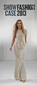 Ромбы, шишки, бахрома - платье спицами от Н. Куликовской