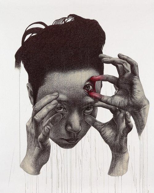 Современный портрет по-корейски. Художник Spunky Zoe и его видение человеческой натуры. 15 работ.