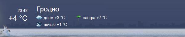 Прогноз погоды: Гродно (Беларусь) - Яндекс.Погода