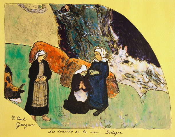 <Dramas of the Sea, Brittany> by Paul Gauguin