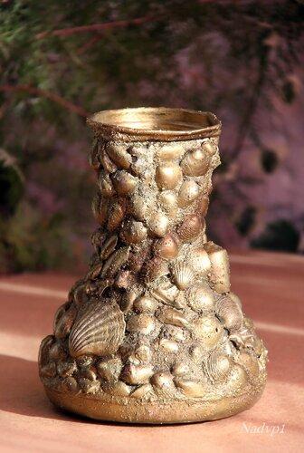 Как сделать вазу с камнями 68