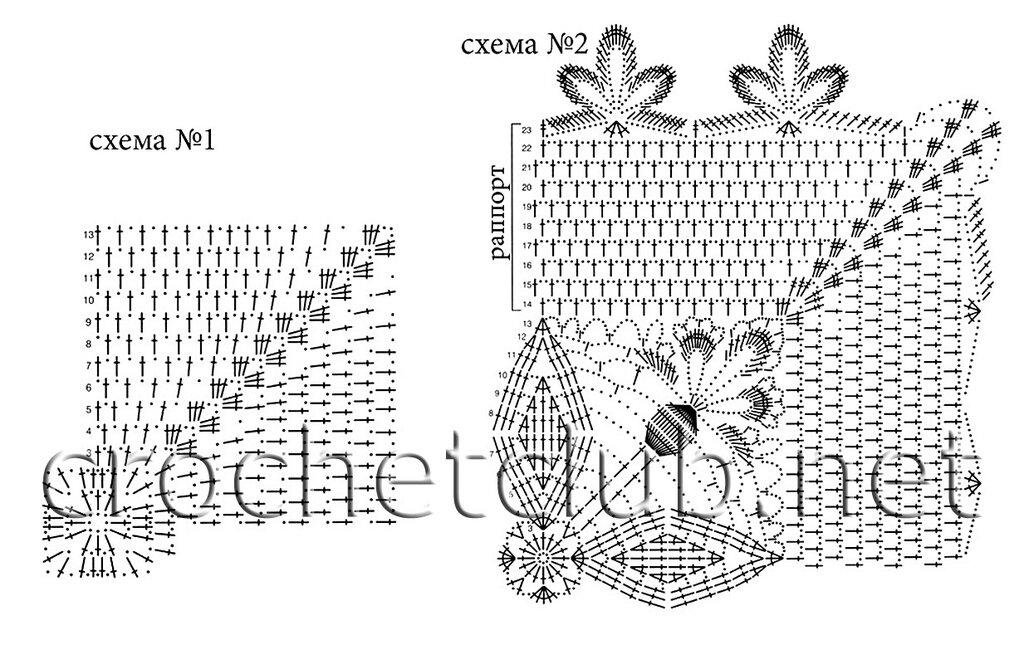 Схемы для крючка вязания салфеток крючком