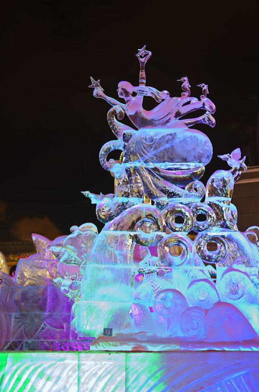 Фото 4. Ледяная русалка на Ледовом городке в Екатеринбурге. Снято на Никон Д5100 и светосильный объектив Никкор 17-55/2,8