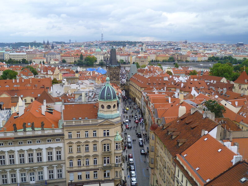 Чехия, Прага - вид с храма Св. Микулаша (Czech Republic, Prague - view from the church of St. Nicholas)
