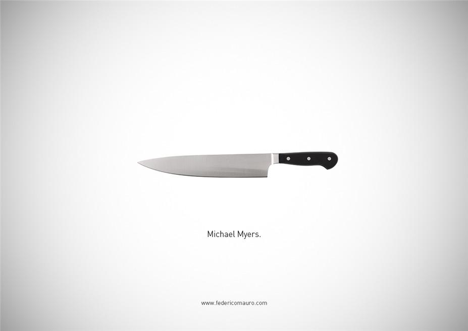 Знаменитые клинки, ножи и тесаки культовых персонажей / Famous Blades by Federico Mauro - Michael Myers