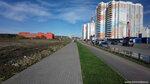 Мытищи улица Борисовка. Вид на ТЦ ИЮНЬ