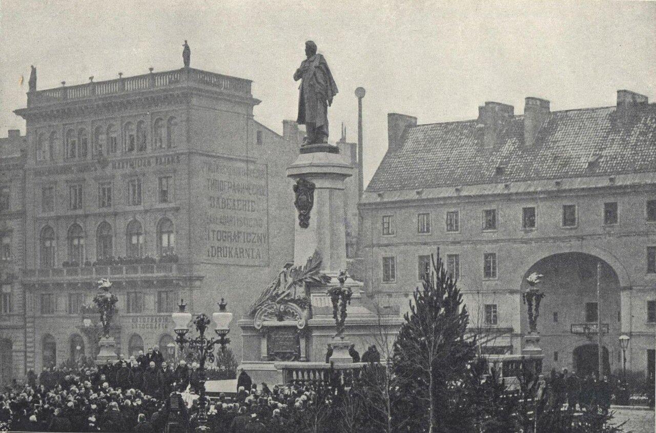 Открытие памятника Мицкевича в Краковском предместье 1898
