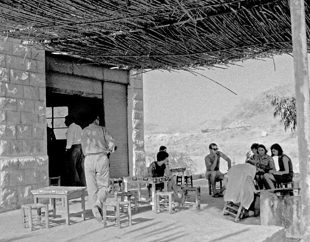 Израиль. Кофейня по дороге Иерусалим-Амман