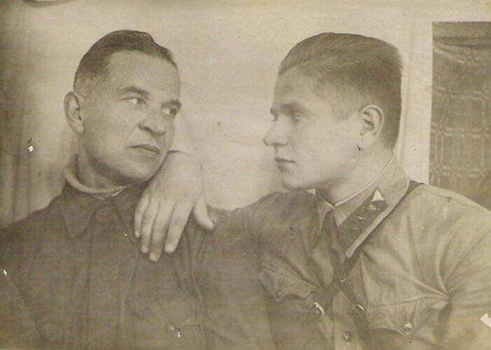 Portrait of two soldiers of the Red Army, 1942