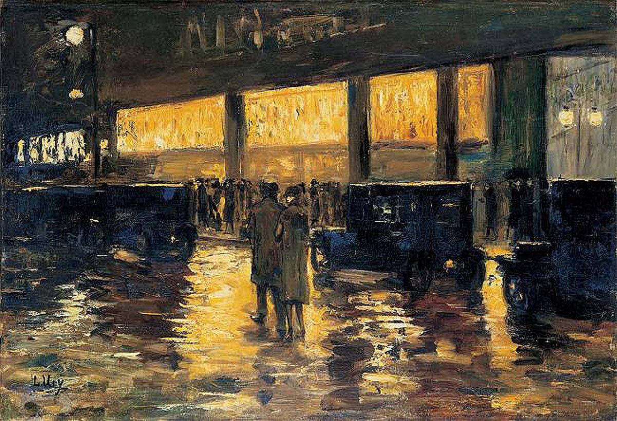 Берлин ночью, 1920-е,  Ури, Лессер(1861-1931)
