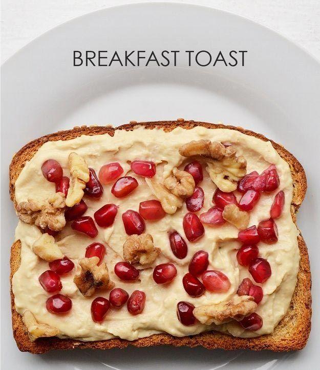 14. Хумус + измельченный грецкий орех + зерна граната