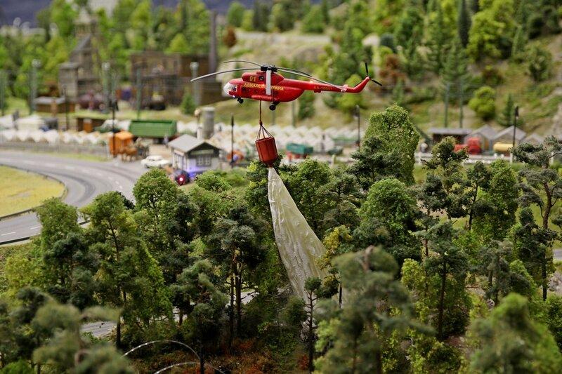 Гранд макет: тушение лесного пожара с пожарного вертолёта