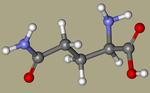 DL-Glutamine - 585-21-7, 2,5-diamino-5-oxopentanoic acid, glutamin, DL Glutamine, 2-amino-4-carbamoylbutanoic acid, NSC27421, 6899-04-3-CID_738.png