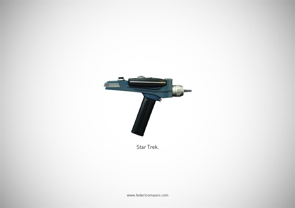 Знаменитые пушки - оружие культовых персонажей / Famous Guns by Federico Mauro - Star Trek