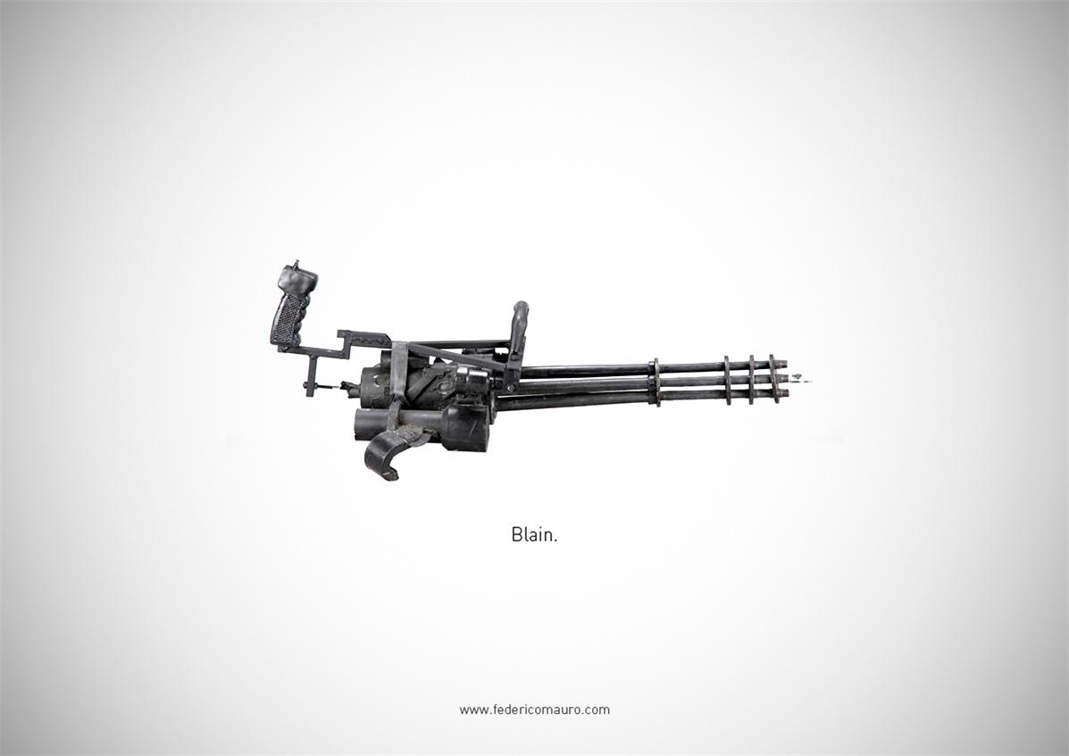 Знаменитые пушки - оружие культовых персонажей / Famous Guns by Federico Mauro - Blain (The Predator)