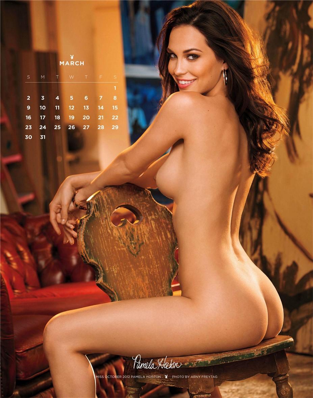 march - Playboy USA playmate calendar 2014 / Pamela Horton - Miss October 2012