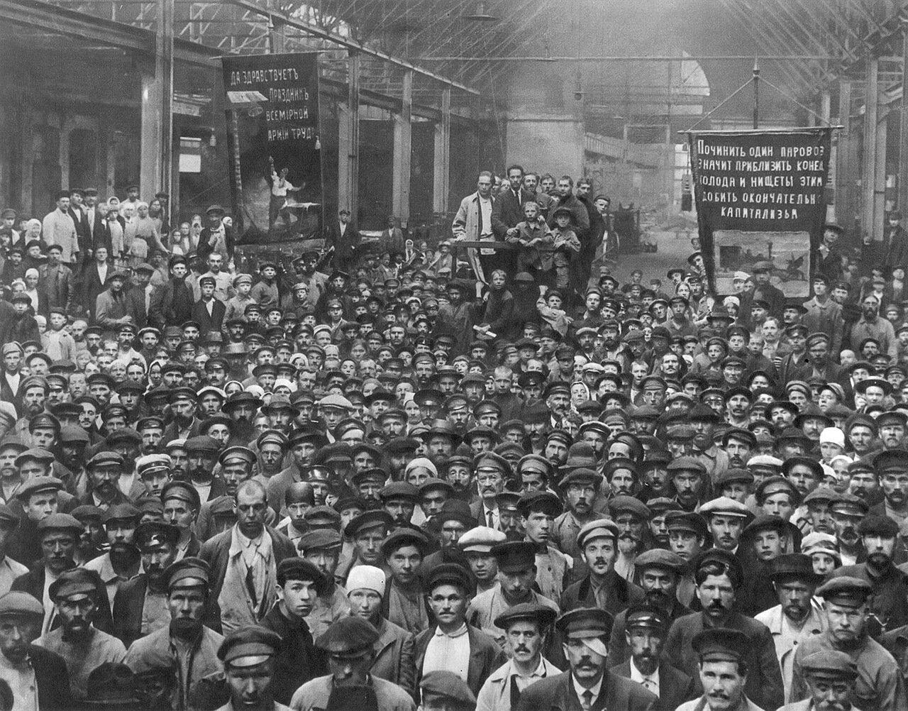Собрание рабочих Путиловского завода