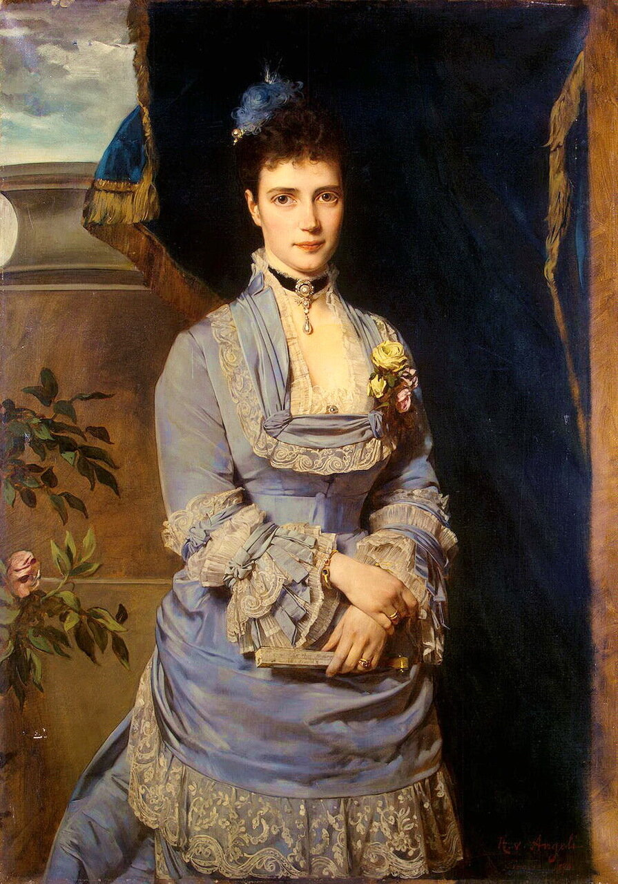 Генрих фон Ангели (1840-1925). Портрет великой княгини Марии Федоровны