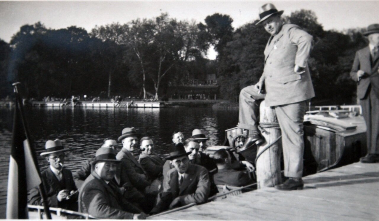Озеро Ванзее. Прогулка по озеру. 1933