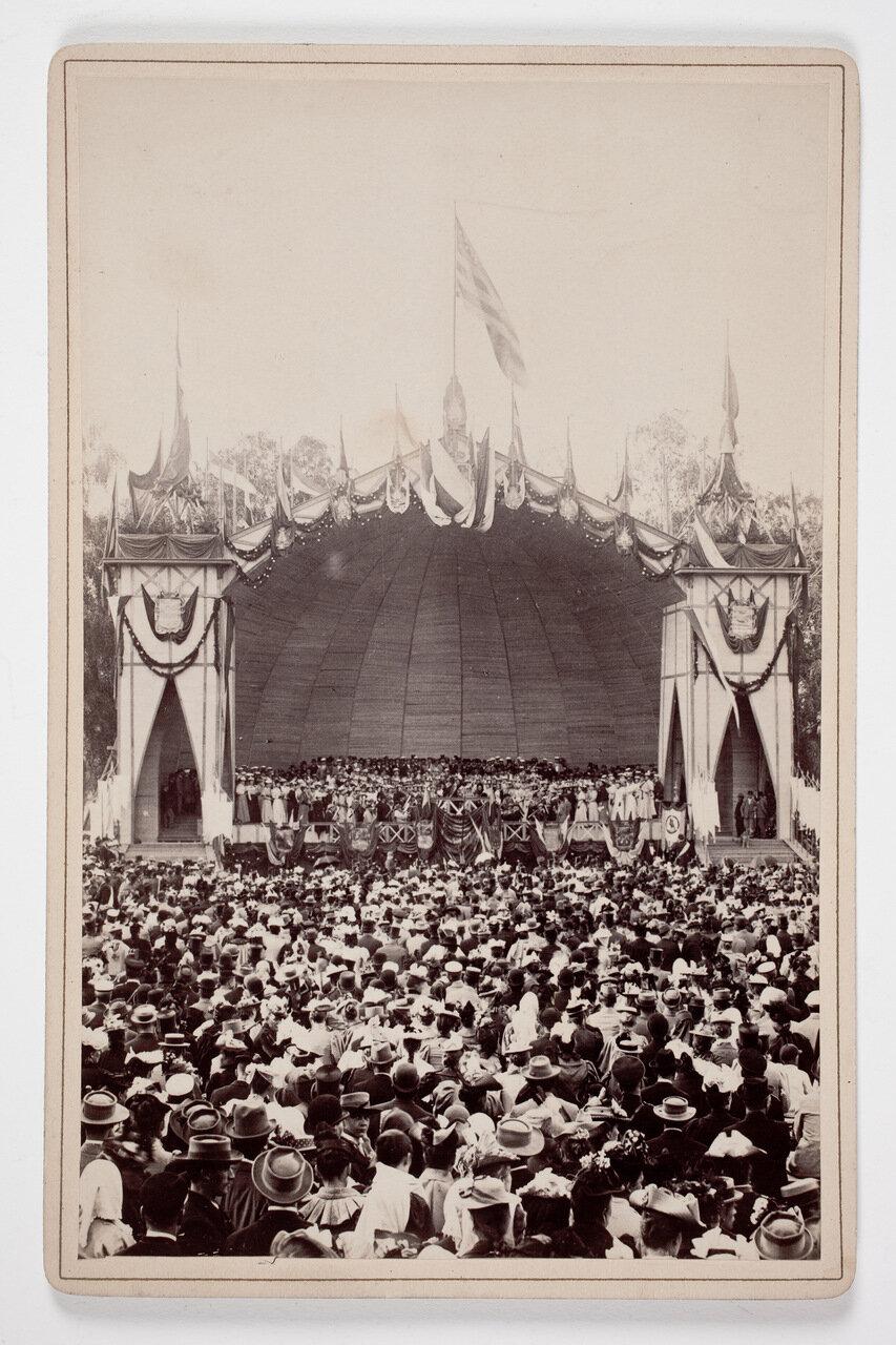 Песенный фестиваль на открытом воздухе в Або, около 1892