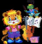 Детский клипарт «Зверюшки — школьники»