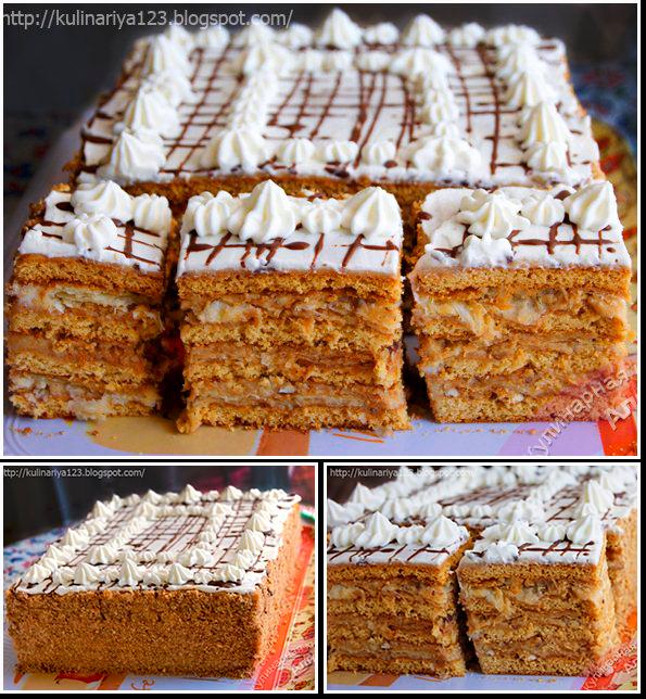 слоеный медовый торт арлекин фото рецепт