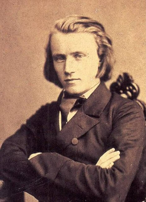 Portrait of Johannes Brahms, 1853