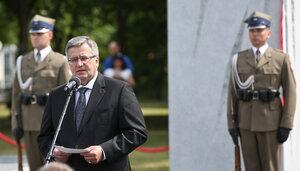В Польше открылся памятник жертвам Волынской трагедии