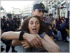 Испания, Мадрид — протесты вылились в беспорядки