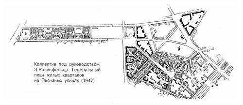 Генеральный план жилых кварталов на Песчаных улицах в Москве
