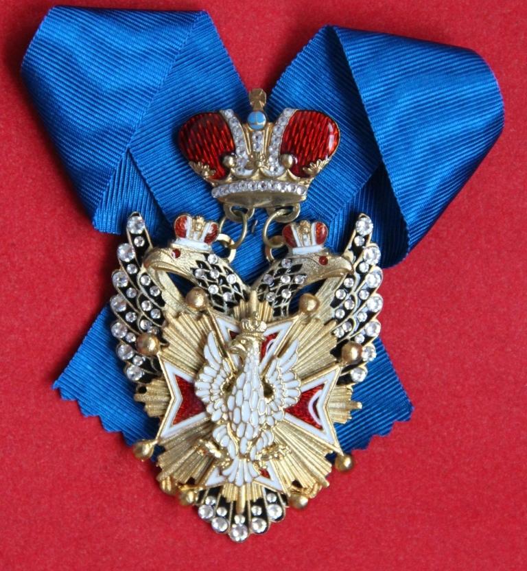 Крест ордед Белого орла шейный (с хрусталем swarovski)