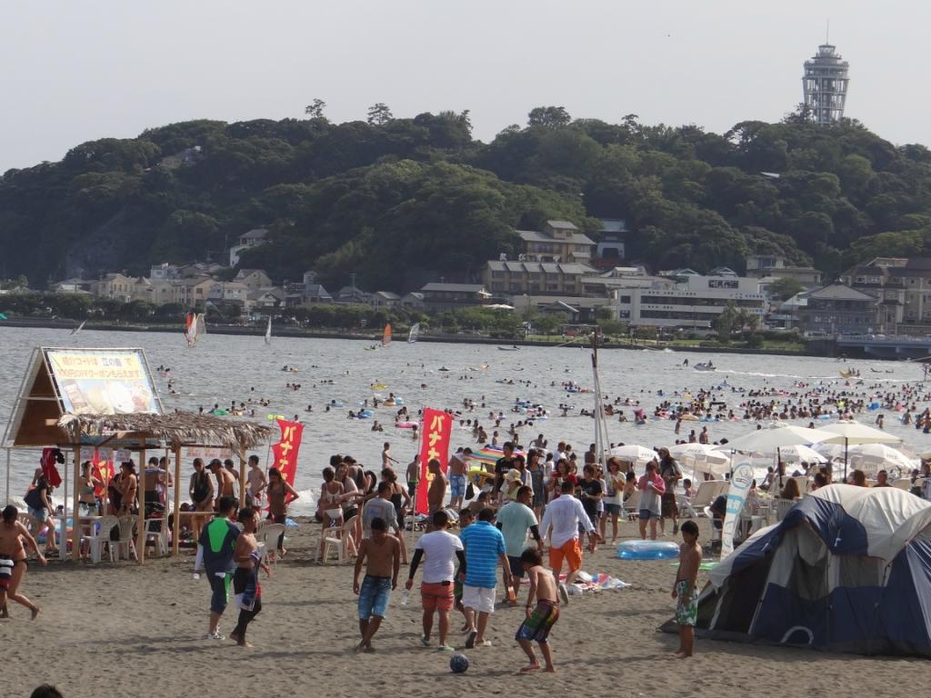 Пляжи Японии. Эносима.