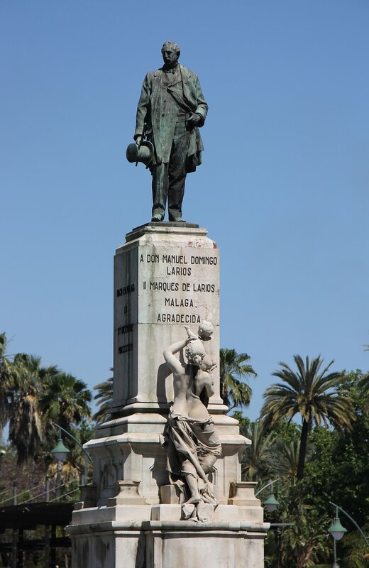 Малага. Памятник Мануэлю Доминго Лариосу (Маркиз де-Лариос)