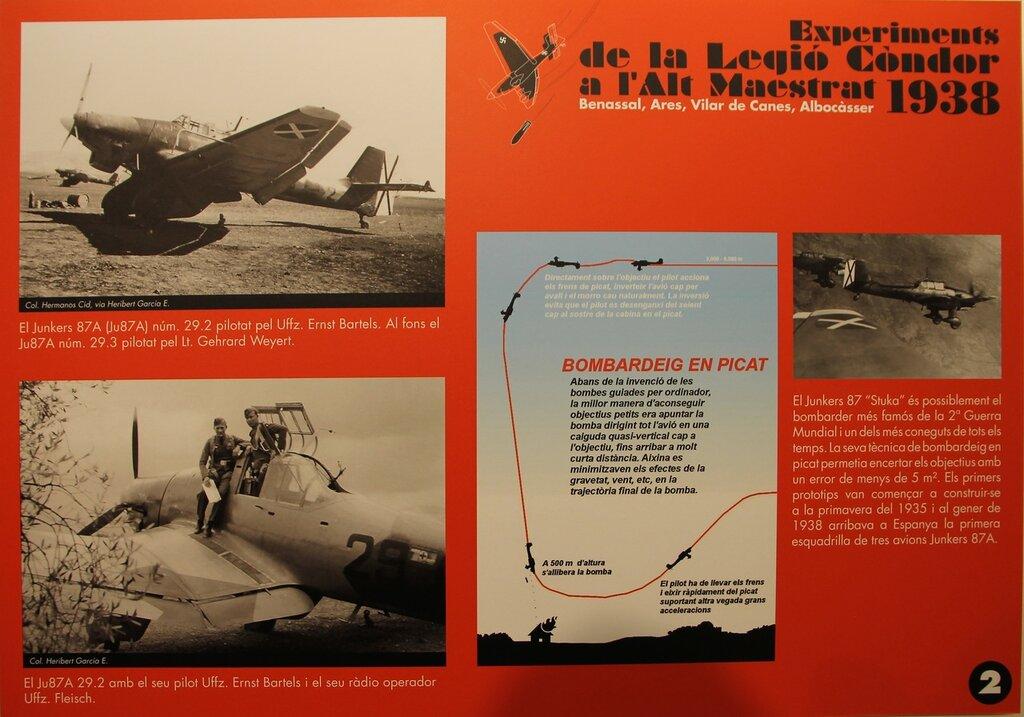 Легион Кондор. Фотохроника применения  Ju-87А с бомбами SC500